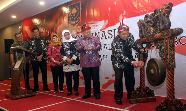 RAKOR - Bupati Sidoarjo, Saiful Ilah membuka rapat koordinasi (Rakor) Pengembangan SOP Kemendagri mulai tanggal 13-15 November 2019 di Hotel Swiss Belinn Airport Juanda Sidoarjo, Rabu (13/11/2019) malam