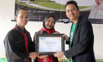 WORKSHOP - CEO Sido Resik, Ahmad Muhdlor Ali bersama hampir 100 anggota Himpunan Mahasiswa Pecinta Alam Sidoarjo (HIMMPAS) Umsida menggelar Workshop Ecobrick, Sabtu (30/11/2019)