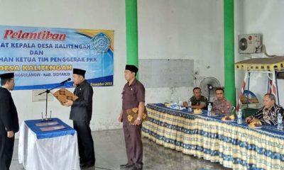 Camat Tanggulangin lantik Pj Kepala Desa Kalitengah Ahmad Imron (gus)
