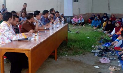 Tim 4 BPN Sidoarjo sosialisasi PTSL di Desa Sumokali. (par)