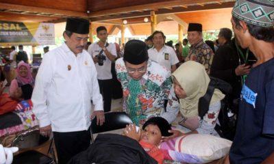 Ratusan Anak Keluarga Dhuafa Ramaikan Khitan Massal di Pendopo Sidoarjo
