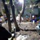 DIMAKAMKAN - Prosesi pemakaman jenazah anggota Komisi C DPRD Sidoarjo yang juga anggota Fraksi PKB, Syaiful Maali di makam keluarga Masjid Kauman Krian, Selasa (09/06/2020) dini hari. Insert foto semasa hidup almarhum saat menjadi anggota DPRD Sidoarjo dua periode