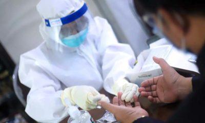 REAKTIF - Sedikitnya 3 orang reaktif saat rapid test anggota dan staf DPRD Sidoarjo yang digelar, Jumat (12/06/2020)