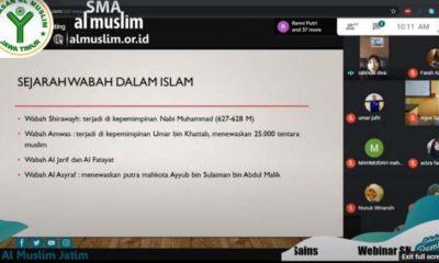 WEBINAR - Para siswa dan siswi SMA Al Muslim menggelar sosialisasi Covid-19 dengan Webinar, Rabun(17/6/2020)