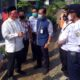 PERLINTASAN - Bacabup Sidoarjo, Bambang Haryo Soekartono (BHS) berdialog dengan perwakilan PT KAI Daop 8 Surabaya mengenai rencana pembangunan fly over di Perlintasan KA Desa Kalitengah, Kecamatan Tanggulangin, Jumat (24/07/2020)
