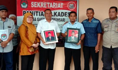 CAKADES - Cakades Gagangkepuhsari, Kecamatan Balongbendo, Sidoarjo Nur Huda dan Mustofa saat pendaftaran beberapa bulan lalu mengaku keberatan dengan penundaan Pilkades Serentak di Sidoarjo